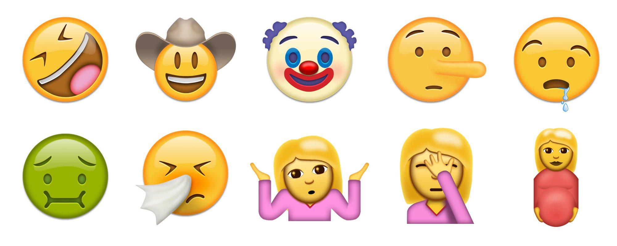 gezichten emoji nieuw