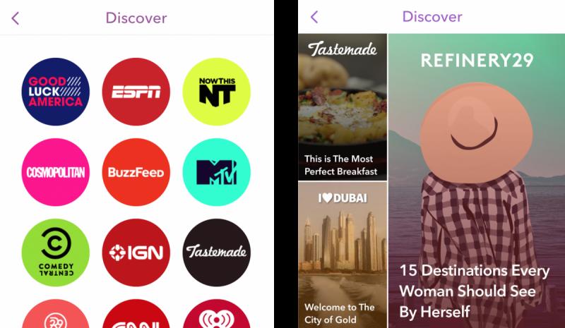 Snapchat update old versus new