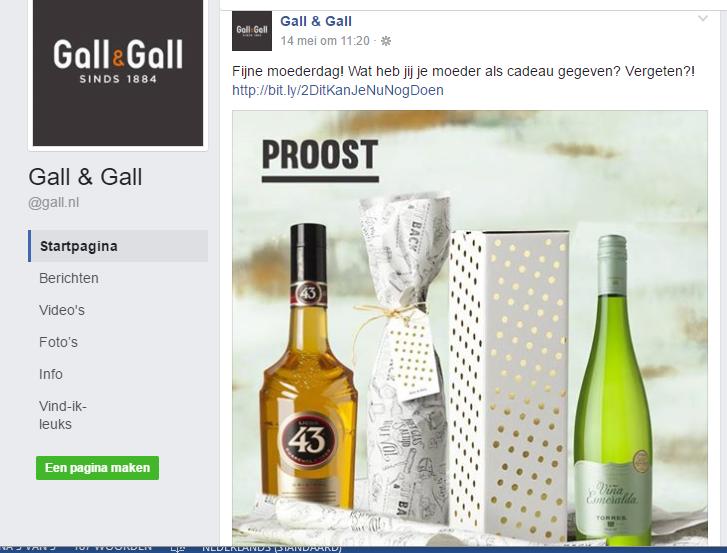 gall & gall social media moederdag