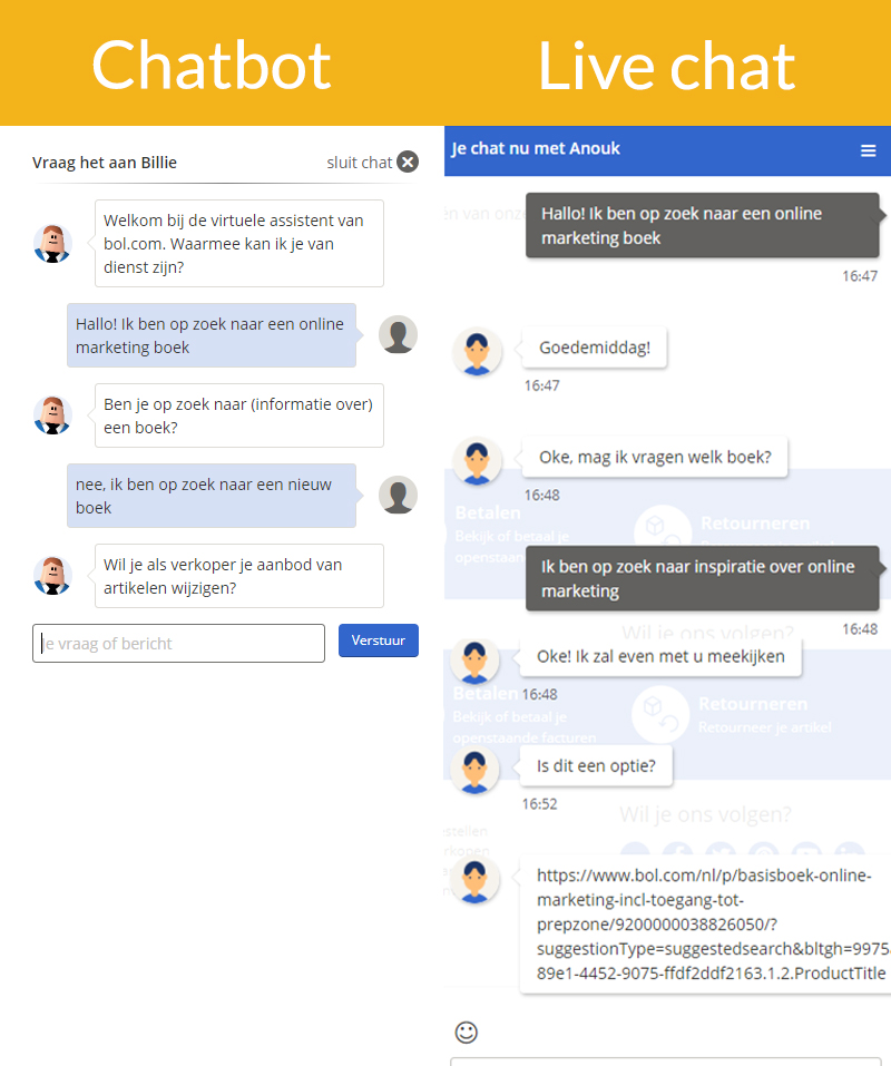 chatbot vs live chat