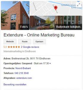 Google mijn bedrijf Extendure