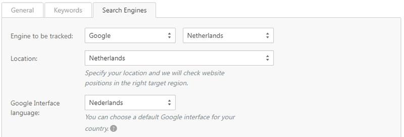 SE Ranking zoekwoorden Nederland