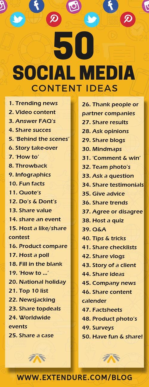 50 content ideeën