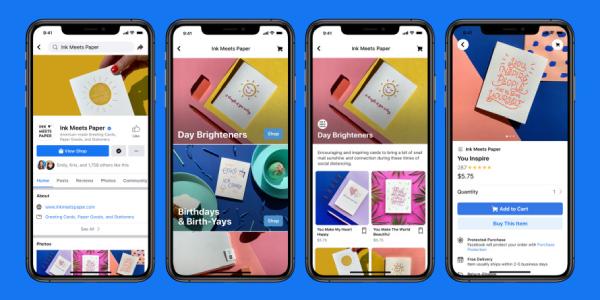 Facebook Shops nieuwe feature