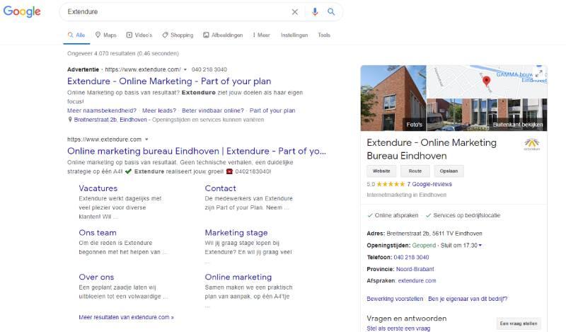 Google website betrouwbaarheid